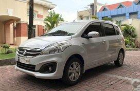Selling Pearl White Suzuki Ertiga 2018 Automatic Gasoline