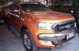 Orange Ford Ranger 2016 Automatic Diesel for sale in Antipolo