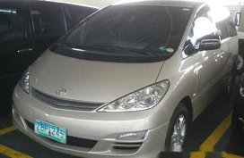 Beige Toyota Previa 2005 for sale in Pasig