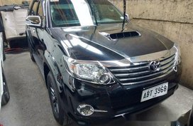 Selling Black Toyota Fortuner 2015 in Quezon City