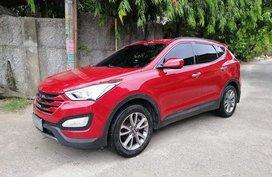 Red Hyundai Santa Fe 2013 for sale in Cebu