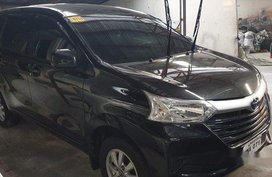 Black Toyota Avanza 2017 Manual Gasoline for sale in Quezon City