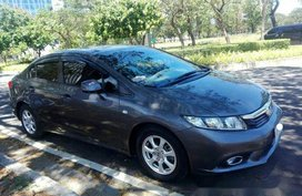 Selling Grey Honda Civic 2013 Automatic Gasoline for sale