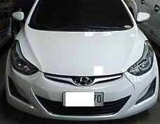 White Hyundai Elantra 2014 Automatic Gasoline for sale in General Salipada K. Pendatun