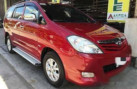 Red Toyota Innova 2012 Manual Gasoline for sale in General Salipada K. Pendatun