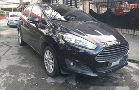 Selling Black Ford Fiesta 2017 Automatic Gasoline at 14000 km for sale