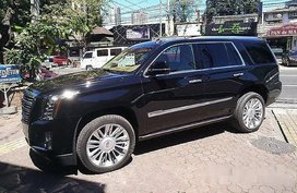 Selling Black Cadillac Escalade 2018 for sale