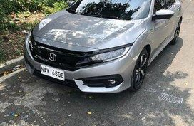 Selling Silver Honda Civic 2018 Automatic Gasoline for sale