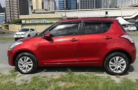 Sell Red 2015 Suzuki Swift at Manual Gasoline at 25000 km for sale