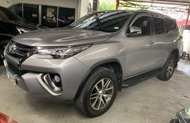 Sell Silver 2017 Toyota Fortuner at Automatic Diesel at 11100 km in Quezon City