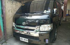 Selling Black Toyota Hiace 2016 Manual Diesel for sale in Taguig