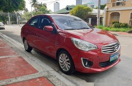 Selling Red Mitsubishi Mirage G4 2014 Automatic Gasoline at 81000 km