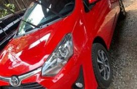 Sell Red 2018 Toyota Wigo at Manual Gasoline at 2800 km in Quezon City