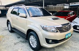 2nd Hand 2013 Toyota Fortuner Automatic Diesel for sale in Digos