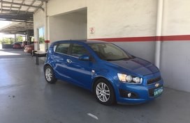 Sell Blue 2013 Chevrolet Sonic at 80000 km in Carmona