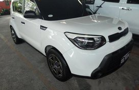 Selling White Kia Soul 2017 Manual Diesel in Quezon City