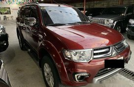 Selling Red Mitsubishi Montero Sport 2015 at Automatic Diesel
