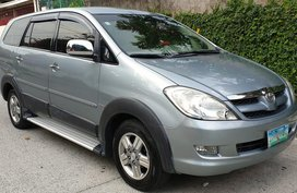 Silver 2007 Toyota Innova V for sale in Quezon City