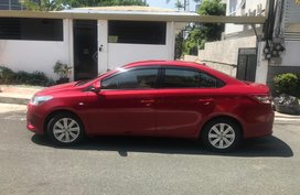 Red 2015 Toyota Vios at 25000 km for sale