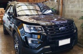Black Ford Explorer 2016 Automatic Gasoline for sale in Meycauayan