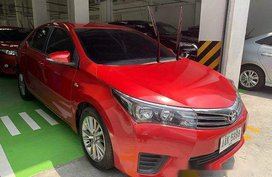 Red Toyota Corolla Altis 2014 Manual Gasoline for sale in Manila