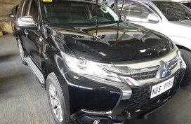 Black Mitsubishi Montero Sport 2018 Manual Diesel for sale in Quezon City