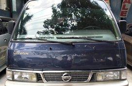 Selling 2nd Hand Van Blue 2014 Nissan Urvan Escapade at 78000 km