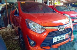 Orange Toyota Wigo 2019 for sale in Quezon City