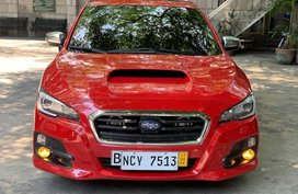 Red Subaru Levorg 2017 at 18000 km for sale