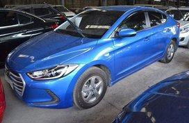 Blue Hyundai Elantra 2017 Manual Gasoline for sale in Makati