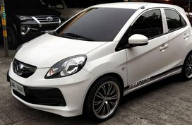 Sell White 2015 Honda Brio at Manual Gasoline in Cainta