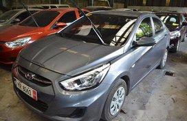 Grey Hyundai Accent 2017 Manual Gasoline for sale in Makati