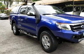 Blue Ford Ranger 2013 at 68221 km for sale in Cainta