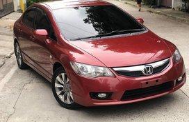 Selling Red Honda Civic 2010 at 100000 km in Metro Manila