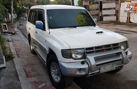 Sell White 2003 Mitsubishi Pajero at 88000 km in Quezon City