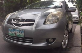 Silver Toyota Yaris 2007 at 80000 km for sale in Quezon City