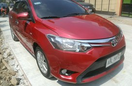 Red 2015 Toyota Vios Sedan at 30000 km for sale
