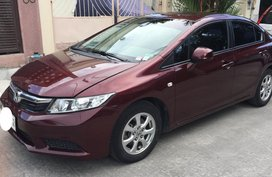 Red Honda Civic 2013 at 60000 km for sale in Taguig
