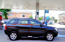 Sell Black 2008 Kia Sportage at 85000 km in Lemery