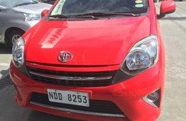 Red Toyota Wigo 2016 for sale Automatic