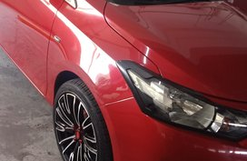 Red Toyota Vios 2016 at 18588 km for sale in Quezon City