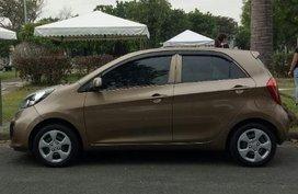 Selling Brown Kia Picanto 2015 Manual Gasoline in Las Piñas