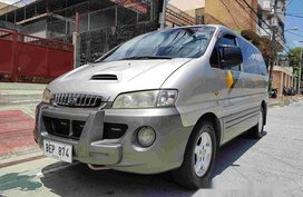 Silver Hyundai Starex 2001 for sale Manual