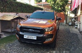 Orange Ford Ranger 2016 for sale Automatic
