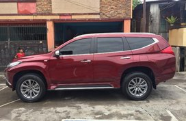 Red Mitsubishi Montero Sport 2018 Automatic Diesel for sale in Olongapo