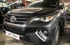 Gray Toyota Fortuner 2018 Manual Diesel for sale in Quezon City
