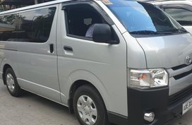 Sell Silver 2019 Toyota Hiace Manual Diesel at 10000 km in Quezon City