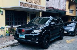 Selling Black Toyota Fortuner 2012 at 79000 km in Quezon City