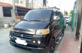 Black Suzuki Apv 2007 Automatic Gasoline for sale