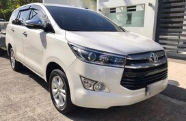 Pearl White Toyota Innova 2016 at 22000 km for sale in San Juan